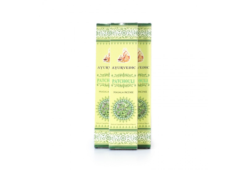 Incenso Ayurvedic - Patchouli - 15g - ATACADO - Cx. 12 unds 15g