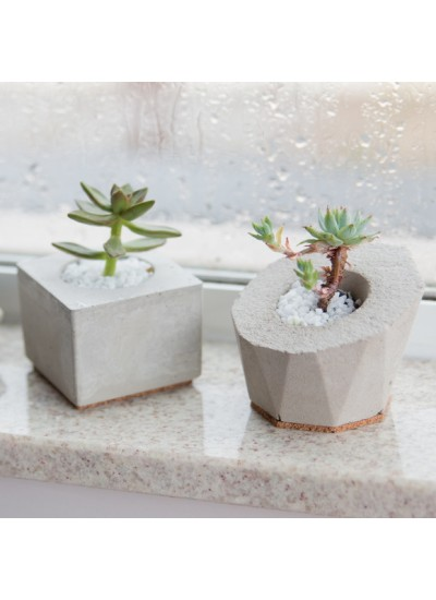 Mini Vaso Box - Concreto 4,5cm