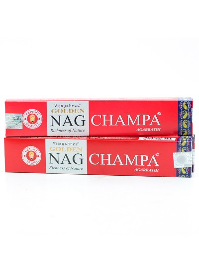 Incenso Vijayshree – Golden Nag Champa – 15g - original
