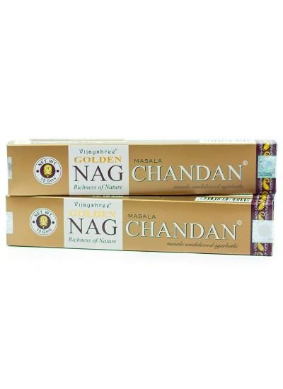 Incenso Vijayshree – Golden Nag Chandan – 15g - original